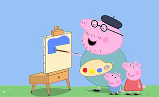 Peppa Pig S02E29 Painting