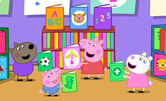 Peppa Pig S03E04 The Library