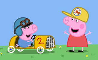 Peppa Pig S04E32 Georges Racing Car