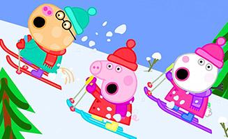 Peppa Pig S04E49 Snowy Mountain