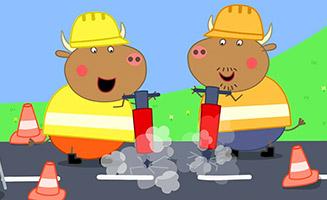 Peppa Pig S05E44 Mr Bulls New Road