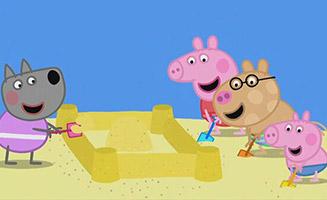 Peppa Pig S06E52 The Sandcastle