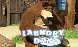 Masha and the Bear S01E18 Laundry Day