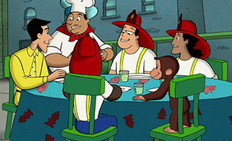Curious George S01E19 The Truth About George Burgers / in the Dark