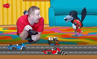 Steve and Maggie are playing with Cars Toys